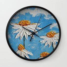 Four Daisies Wall Clock