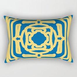 Medallion Princess Blue & Aspen Gold Rectangular Pillow