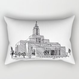 Draper Utah LDS Temple Rectangular Pillow