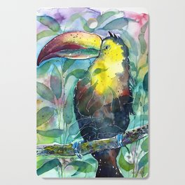 TOUCAN, watercolor illustration (nature) Cutting Board