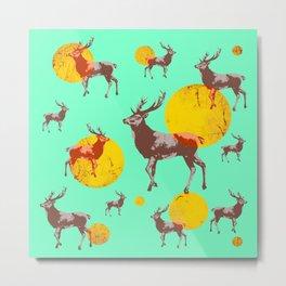 dear deers - christmas Metal Print