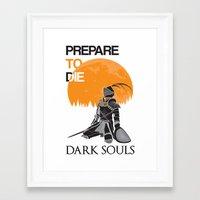 dark souls Framed Art Prints featuring Dark Souls by billydragon77