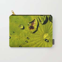 Lily with Water Drops Carry-All Pouch