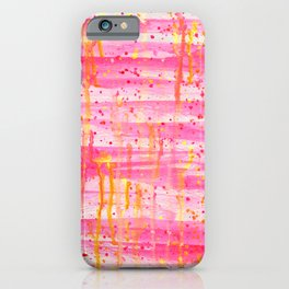 Confetti Abstract High Flow Acrylic Painting iPhone Case