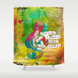 Music Ignites Our Souls Shower Curtain