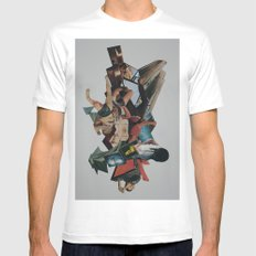 Stategies of Distraction MEDIUM White Mens Fitted Tee