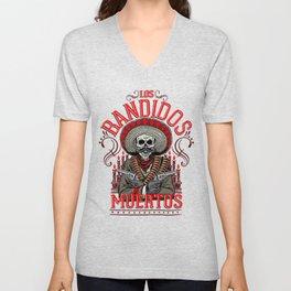 Los Bandidos Muertos Unisex V-Neck
