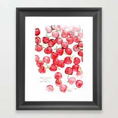 Cherry pies Framed Art Print