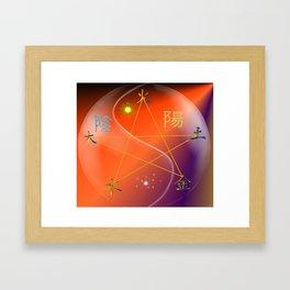 Feng Shui five elements Orange Purple Framed Art Print