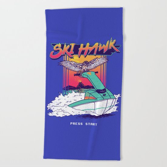 Ski Hawk Beach Towel