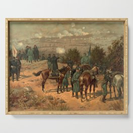 Civil War Battle of Chattanooga by Thulstrup Serving Tray