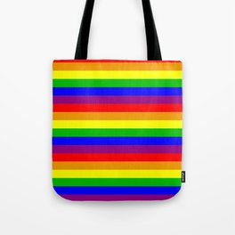 Gay flag with rainbow colors Tote Bag