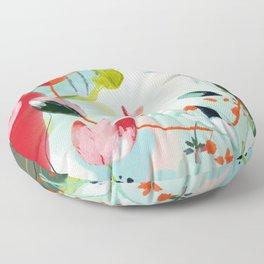 my summer garden Floor Pillow