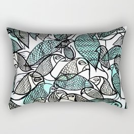 BIRDS IN THE PARK Rectangular Pillow