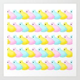 Peeps Pattern Art Print