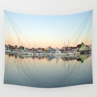 marina Wall Tapestries featuring Marina Village  by RichCaspian