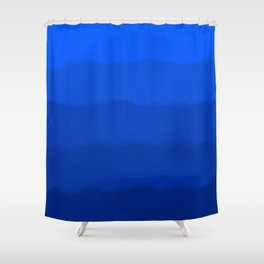 Endless Sea of Blue Shower Curtain