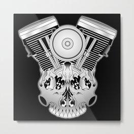 Motor Mind Metal Print