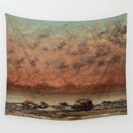 The Black Rocks at Trouville Gustave Courbet Painting Wall Tapestry