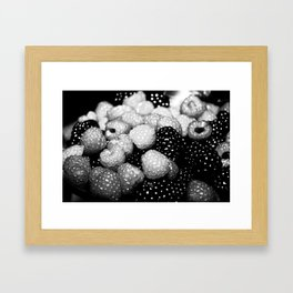 Berry Black and White Framed Art Print