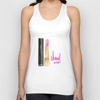 lipstick Tank Tops featuring Lipstick by I Love Decor