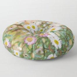 Meadow Wild Flowers Floor Pillow