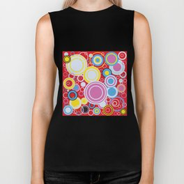 Pop Art Colour Circles Biker Tank