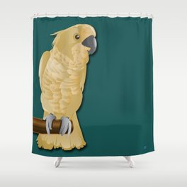 Ivory the Bird Shower Curtain