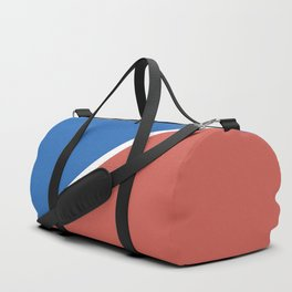 Fire Red & Mild Blue - oblique Duffle Bag