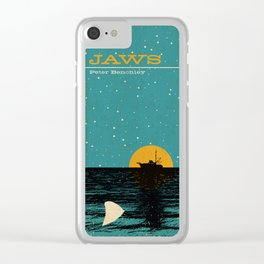 Jaws Book Cover Clear iPhone Case