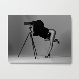 The nude photographer Metal Print