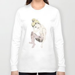 With stockings of flowers Long Sleeve T-shirt