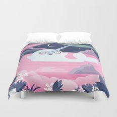 Norman the Near-Sighted Narwhal Duvet Cover