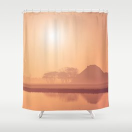 Autumn Silhouette 4 Shower Curtain