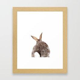 Bunny back side Framed Art Print