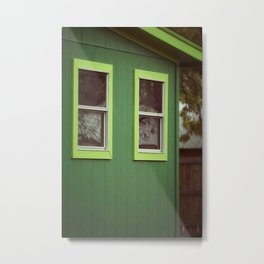 Green House Metal Print