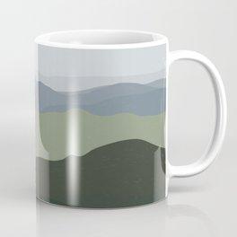 Green Mountainscape Coffee Mug