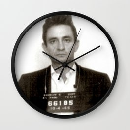 Johnny Cash Mugshot Wall Clock