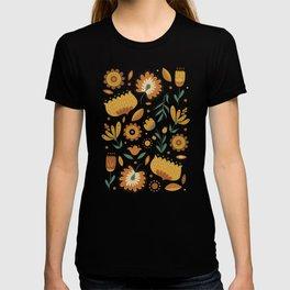 Autumn Folk Art Florals T-shirt