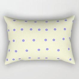 purple polka dots on cream Rectangular Pillow