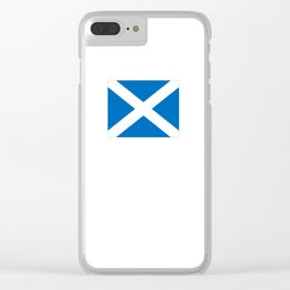 flag of scotland – scotland,scot,scottish,Glasgow,Edinburgh,Aberdeen,dundee,uk,cletic,celts,Gaelic Clear iPhone Case