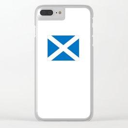 flag of scotland – scotland,scot,scottish,Glasgow,Edinburgh,Aberdeen,dundee,uk,cletic,celts,Gaelic Clear iPhone Case