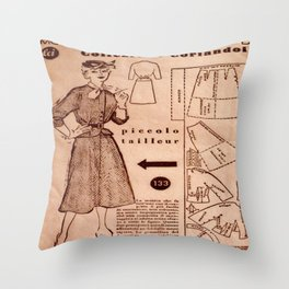 1950's vintage sewing pattern VIII Throw Pillow