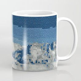 Cross Stitch Skiing Coffee Mug