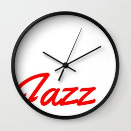 Eat Sleep Jazz Repeat Design Cool Gift for Trumpet Lovers Wall Clock