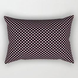 Black and Orchid Smoke Polka Dots Rectangular Pillow