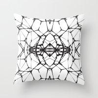 dna Throw Pillows featuring DNA by kartalpaf