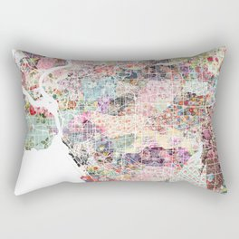 Buffalo map New York Rectangular Pillow