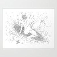 Flores. Art Print