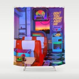 Retrowave Dine & Dream Shower Curtain